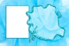 μπλε πλαίσιο Tulle στοκ φωτογραφίες