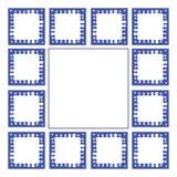 Μπλε πλαισίων Στοκ φωτογραφίες με δικαίωμα ελεύθερης χρήσης