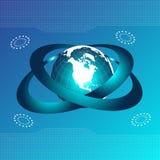 μπλε πλανήτης διανυσματική απεικόνιση