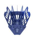 μπλε πλαστική αποθήκευ&sigm Στοκ Εικόνες