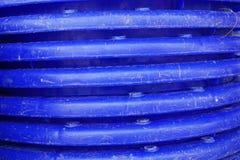 Μπλε πλαστική σύσταση καλαθιών Στοκ Φωτογραφία