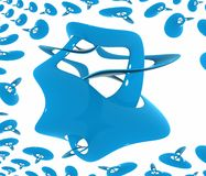 μπλε πλαστικό κύμα αντικε Στοκ Εικόνες