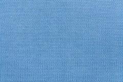 Μπλε πλεκτή σύσταση υφάσματος Στοκ εικόνα με δικαίωμα ελεύθερης χρήσης