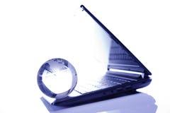 μπλε πληκτρολόγιο σφαιρών υπολογιστών ανασκόπησης Στοκ Εικόνες