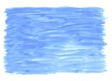 μπλε πλύσιμο watercolour Στοκ φωτογραφία με δικαίωμα ελεύθερης χρήσης