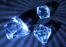 μπλε πολύτιμοι λίθοι Στοκ Εικόνες
