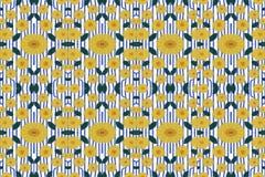 Μπλε, πορτοκάλι, κίτρινος, άσπρος και πράσινος μπλε sttripes και κίτρινοι κύκλοι Στοκ Εικόνες