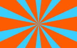 Μπλε πορτοκαλιά εικόνα υποβάθρου ακτίνων Στοκ φωτογραφία με δικαίωμα ελεύθερης χρήσης