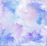 Μπλε πορφυρή σύσταση υποβάθρου Watercolor Στοκ φωτογραφίες με δικαίωμα ελεύθερης χρήσης