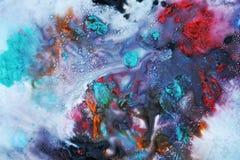 Μπλε πορφυρό κόκκινο σκοτεινό χρώμα watercolor, μαλακά χρώματα μιγμάτων, υπόβαθρο σημείων ζωγραφικής, ζωηρόχρωμο αφηρημένο υπόβαθ Στοκ φωτογραφία με δικαίωμα ελεύθερης χρήσης