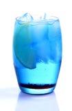 μπλε ποτό του Κουρασάο Στοκ Εικόνες