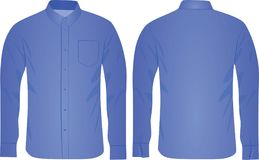 Μπλε πουκάμισο ατόμων διανυσματική απεικόνιση