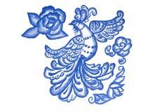 Μπλε πουλί στο λευκό Στοκ Φωτογραφίες
