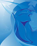 μπλε πουλιών αφαίρεσης Στοκ φωτογραφίες με δικαίωμα ελεύθερης χρήσης