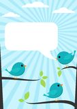 μπλε πουλιών Στοκ Εικόνες