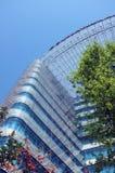 μπλε που χτίζει το σύγχρο στοκ εικόνα