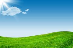 μπλε πράσινος ουρανός λι& Στοκ φωτογραφίες με δικαίωμα ελεύθερης χρήσης