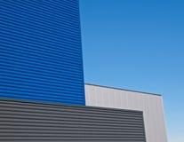 μπλε πρόσοψη γκρίζα Στοκ Φωτογραφίες