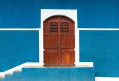 Μπλε πρόσοψη τοίχων στη Γρανάδα, Νικαράγουα στοκ φωτογραφίες με δικαίωμα ελεύθερης χρήσης