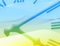 μπλε πρόσωπο ρολογιών κίτρινο Στοκ εικόνα με δικαίωμα ελεύθερης χρήσης