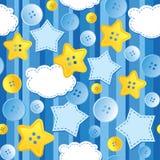μπλε πρότυπο άνευ ραφής Στοκ φωτογραφία με δικαίωμα ελεύθερης χρήσης