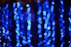 Μπλε πυράκτωση με τη σύσταση με το bokeh Στοκ Εικόνα