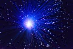 Μπλε πυροτέχνημα λάμψης Στοκ φωτογραφία με δικαίωμα ελεύθερης χρήσης