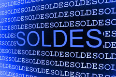 μπλε πωλήσεις προτύπων Στοκ Φωτογραφίες