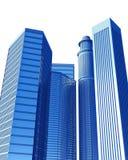 μπλε πόλη ελεύθερη απεικόνιση δικαιώματος