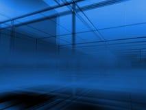 μπλε πόλη διανυσματική απεικόνιση