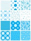 μπλε Πόλκα σημείων Στοκ φωτογραφία με δικαίωμα ελεύθερης χρήσης