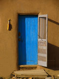 μπλε πόρτα Στοκ Εικόνες