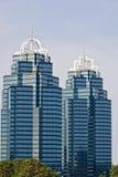 μπλε πύργοι δύο Στοκ φωτογραφίες με δικαίωμα ελεύθερης χρήσης