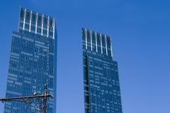 μπλε πύργοι Στοκ εικόνα με δικαίωμα ελεύθερης χρήσης