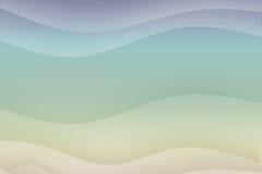 μπλε ρέοντας κατευναστικά κύματα διανυσματική απεικόνιση