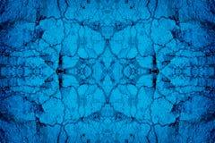 Μπλε ραγισμένο υπόβαθρο τοίχων Στοκ Εικόνες