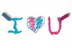 μπλε ροζ καρδιών doodle Στοκ Φωτογραφία