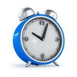 μπλε ρολόι υποστηριγμάτων συναγερμών Στοκ Εικόνες