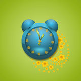 μπλε ρολόι Στοκ Εικόνες