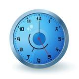 μπλε ρολόι Στοκ εικόνα με δικαίωμα ελεύθερης χρήσης