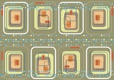 μπλε ρόδινα τετράγωνα σημ&epsil ελεύθερη απεικόνιση δικαιώματος