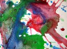 Μπλε ρόδινο πράσινο λαμπιρίζοντας κέρινο χρώμα, υπόβαθρο μορφών αντίθεσης στα χρώματα κρητιδογραφιών Στοκ φωτογραφία με δικαίωμα ελεύθερης χρήσης