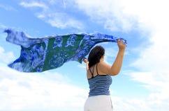 μπλε σάλι Στοκ Εικόνες