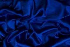 μπλε σατέν ανασκόπησης Στοκ Εικόνες