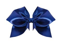 μπλε σατέν δώρων τόξων κορδέλλα Απομονωμένος στο λευκό Στοκ εικόνα με δικαίωμα ελεύθερης χρήσης