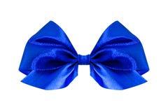 μπλε σατέν δώρων τόξων κορδέλλα Απομονωμένος στο λευκό Στοκ εικόνες με δικαίωμα ελεύθερης χρήσης