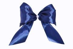 μπλε σατέν δώρων τόξων κορδέλλα Απομονωμένος στο λευκό Στοκ φωτογραφία με δικαίωμα ελεύθερης χρήσης