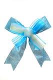 μπλε σατέν τόξων Στοκ Εικόνα