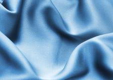 μπλε σατέν Στοκ εικόνα με δικαίωμα ελεύθερης χρήσης