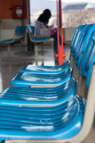 μπλε σειρά εδρών Στοκ Εικόνες